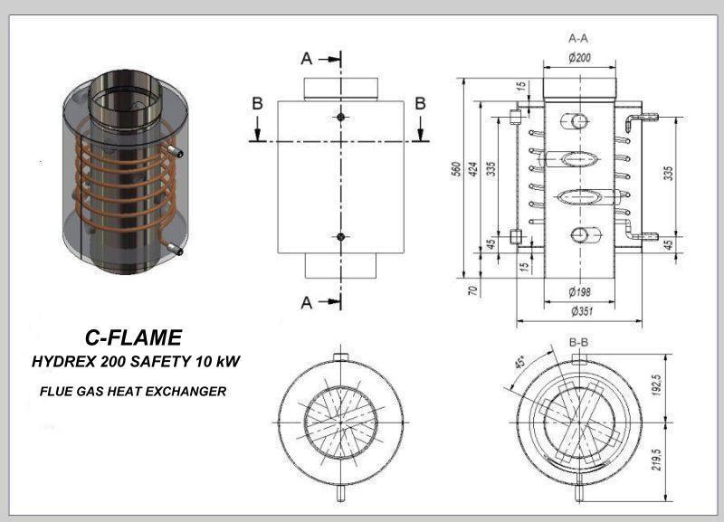 Hydro rookgaswarmtewisselaar h1 safety thermotrade - Centraal geschorste schoorsteen ...
